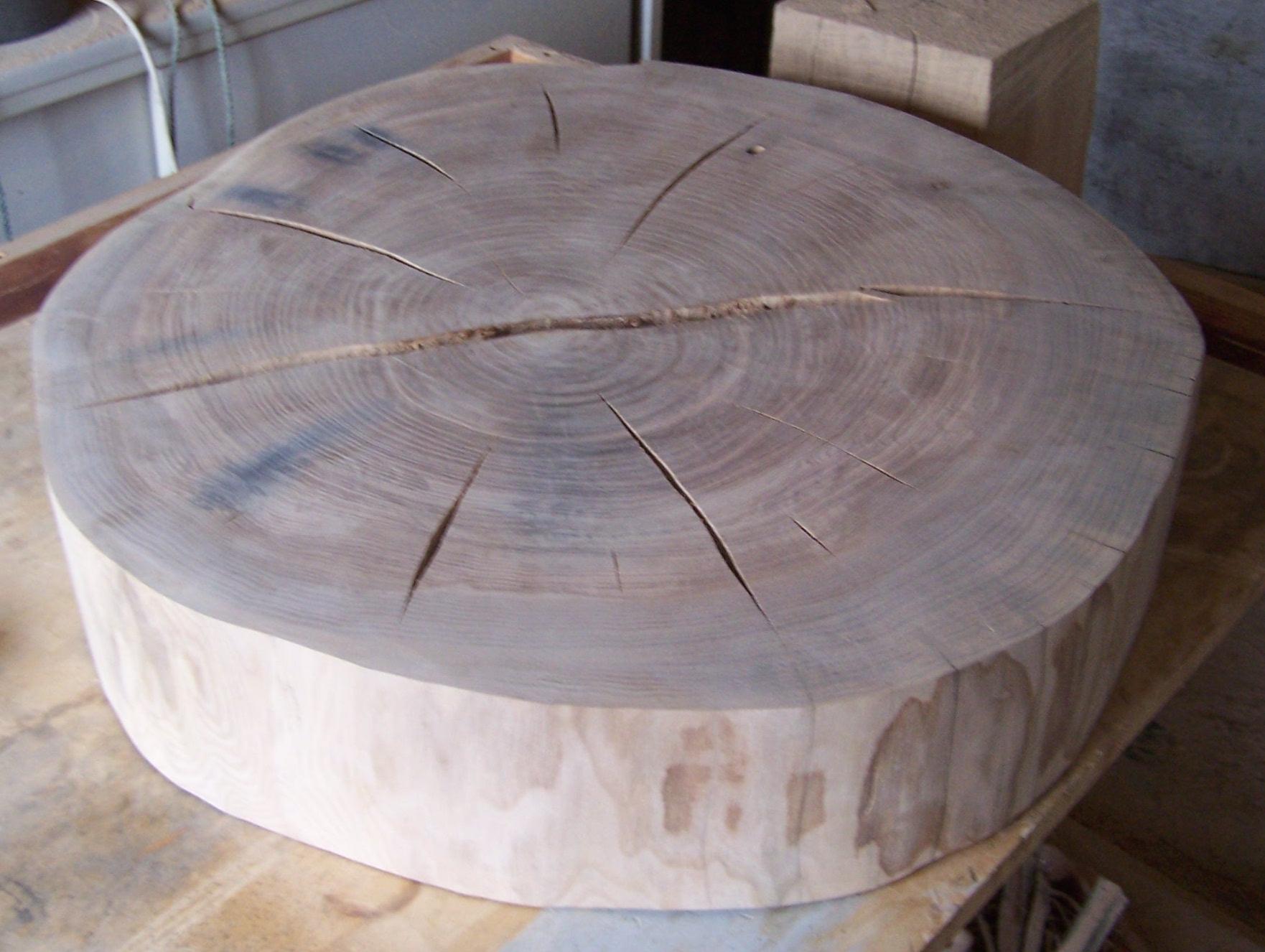 Wood art herzbluth for Wohnzimmertisch baumscheibe